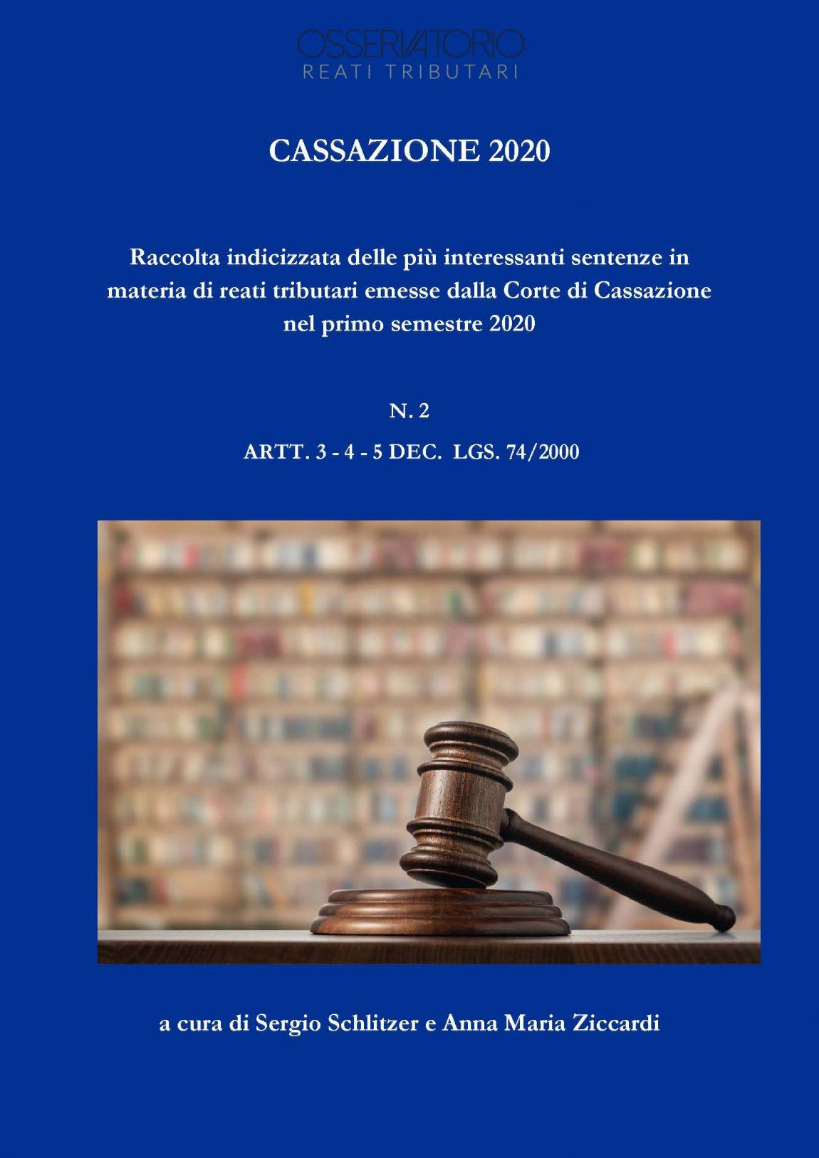 Secondo numero della raccolta indicizzata delle sentenze in tema di reati tributari
